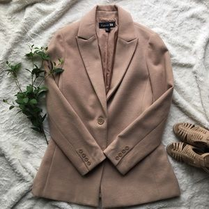 F21 nude/cream pea coat